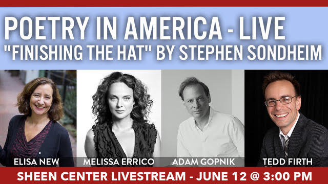 Sheen Center Poetry in America-Live