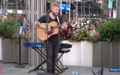 Broadway Buskers Continue in Times Square