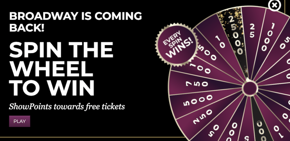 Spin & Win for Broadway